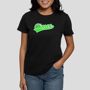 Retro Aimee (Green) Women's Dark T-Shirt