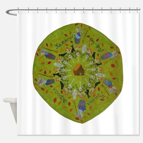Baba Yaga Mandala Shower Curtain