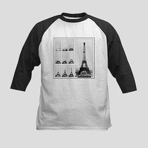 Eiffel Tower Under Construction Baseball Jersey