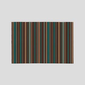 Retro Striped 4' x 6' Rug