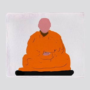 ZEN MONK Throw Blanket