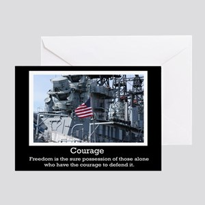 Courage Military Greeting Card
