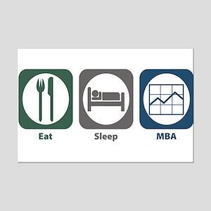 Eat Sleep MBA Mini Poster Print