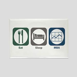Eat Sleep MBA Rectangle Magnet