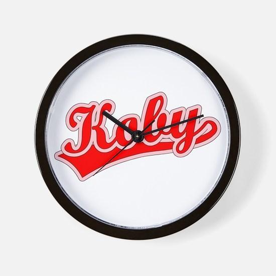 Retro Koby (Red) Wall Clock