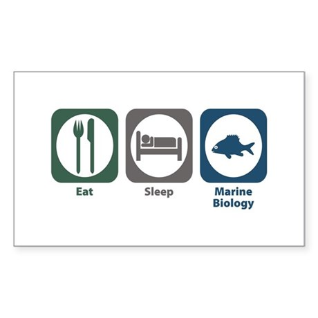Eat Sleep Marine Biology Rectangle Sticker