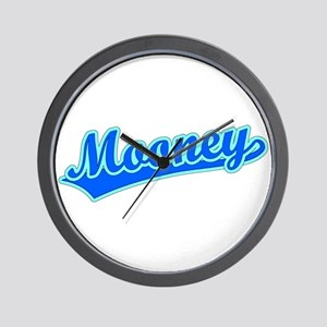 Retro Mooney (Blue) Wall Clock