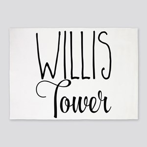 Willis Tower 5'x7'Area Rug
