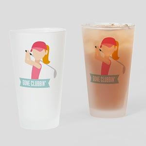 Gone Clubbin Clubbing Party Golf Cl Drinking Glass