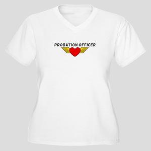 Probation Officer Women's Plus Size V-Neck T-Shirt