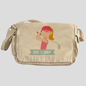 Gone Clubbin Clubbing Party Golf Clu Messenger Bag