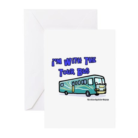 I'm With The Tour Bus Greeting Cards (Pk of 10