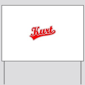 Retro Kurt (Red) Yard Sign
