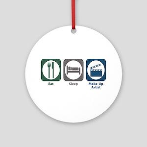 Eat Sleep Make-Up Artist Ornament (Round)