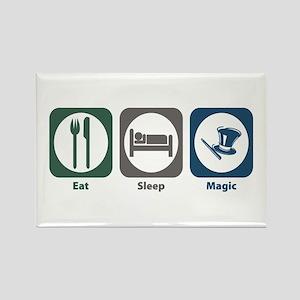 Eat Sleep Magic Rectangle Magnet