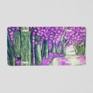 Purple Rain Aluminum License Plate