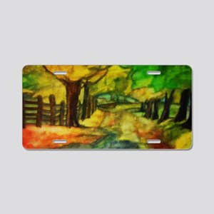 Over the Hills and Far Away Aluminum License Plate