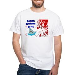 Shark Attacks Bite! Survivor? White T-Shirt