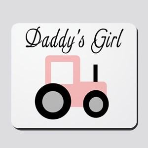 Daddy's Girl - Pink Tractor Mousepad
