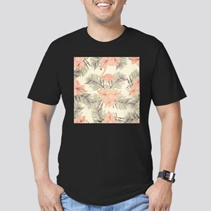 Vintage Flamingo Men's Fitted T-Shirt (dark)