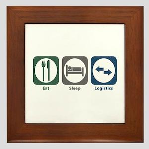 Eat Sleep Logistics Framed Tile