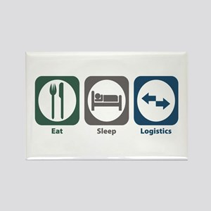 Eat Sleep Logistics Rectangle Magnet