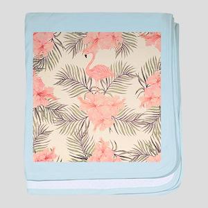 Vintage Flamingo baby blanket
