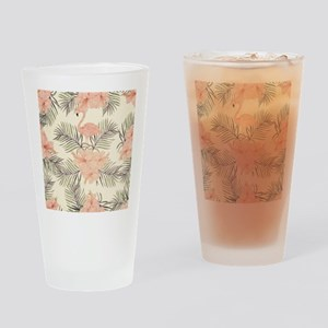 Vintage Flamingo Drinking Glass