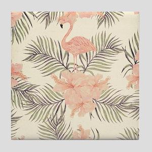 Vintage Flamingo Tile Coaster