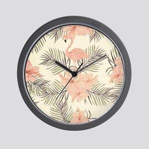 Vintage Flamingo Wall Clock