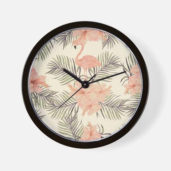 Vintage Flamingo Wall Clock