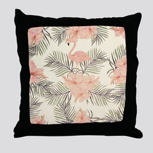 Vintage Flamingo Throw Pillow