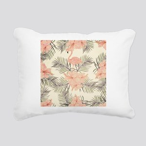 Vintage Flamingo Rectangular Canvas Pillow