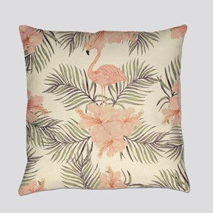 Vintage Flamingo Everyday Pillow