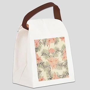 Vintage Flamingo Canvas Lunch Bag