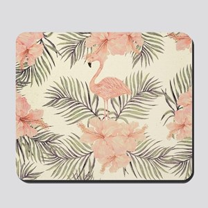 Vintage Flamingo Mousepad