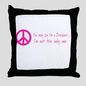 Imagine Peace Sign Throw Pillow