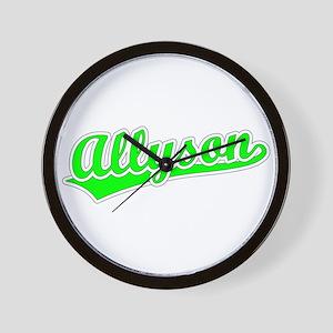 Retro Allyson (Green) Wall Clock