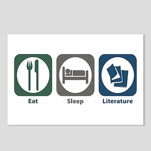 Eat Sleep Literature Postcards (Package of 8)