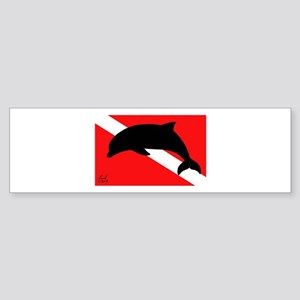Dolphin Dive Bumper Sticker