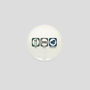 Eat Sleep Linguistics Mini Button