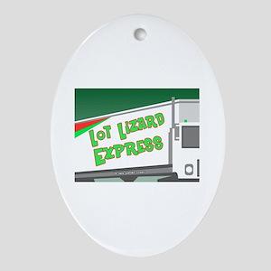 Lot Lizard Trucking Express Keepsake (Oval)