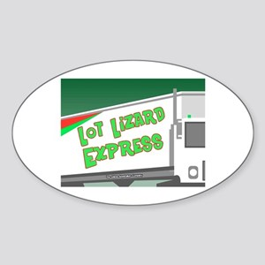 Lot Lizard Trucking Express Oval Sticker