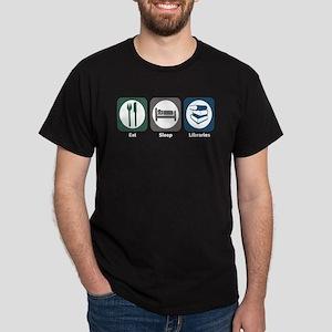 Eat Sleep Libraries Dark T-Shirt