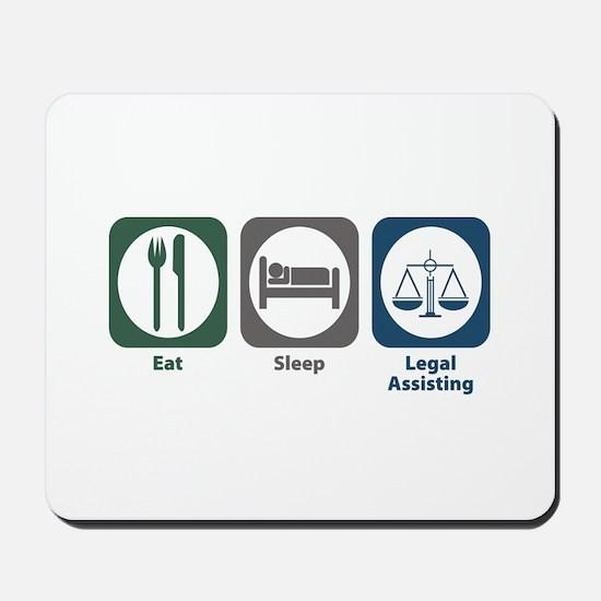 Eat Sleep Legal Assisting Mousepad