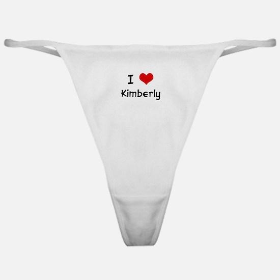 I LOVE KIMBERLY Classic Thong