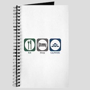 Eat Sleep Lay Bricks Journal