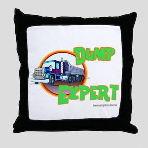 Dump Expert Truck Design Throw Pillow