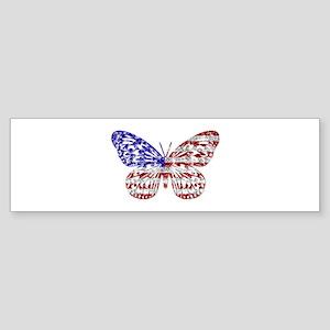 American Butterfly Bumper Sticker