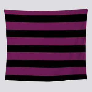 Magenta Striped Wall Tapestry